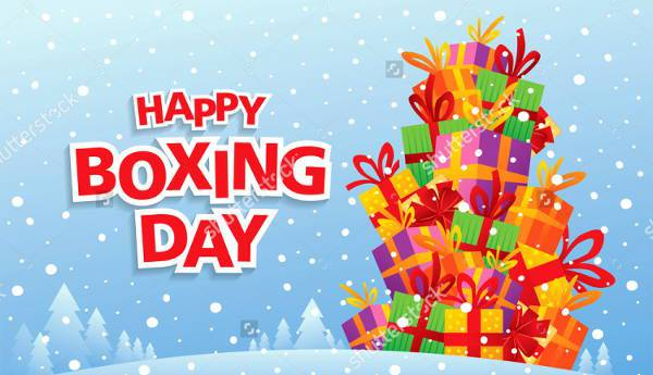 Boxing Day Vector Illustration