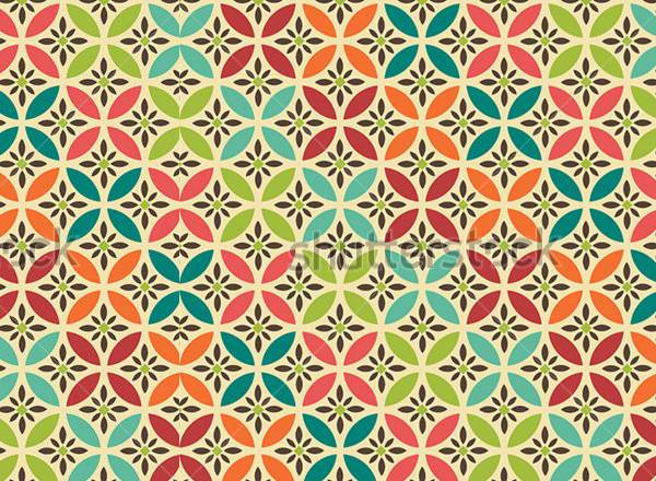 Colorful Tilable Vintage Pattern