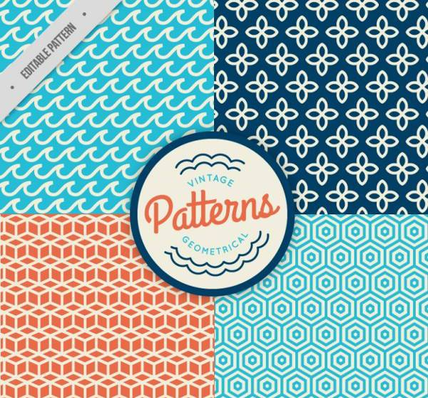 free geometric vintage pattern