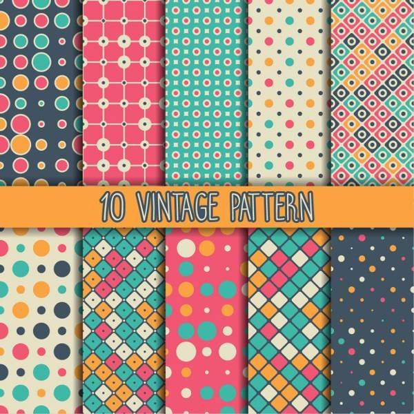 Free Colorful Vintage Pattern