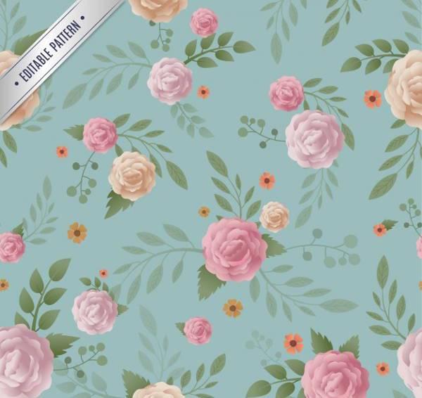 vintage rose floral pattern