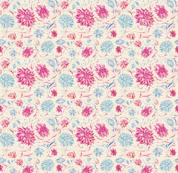 vintage watercolor pink flower pattern