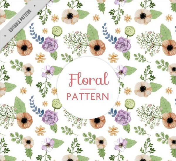 vintage watercolor floral pattern