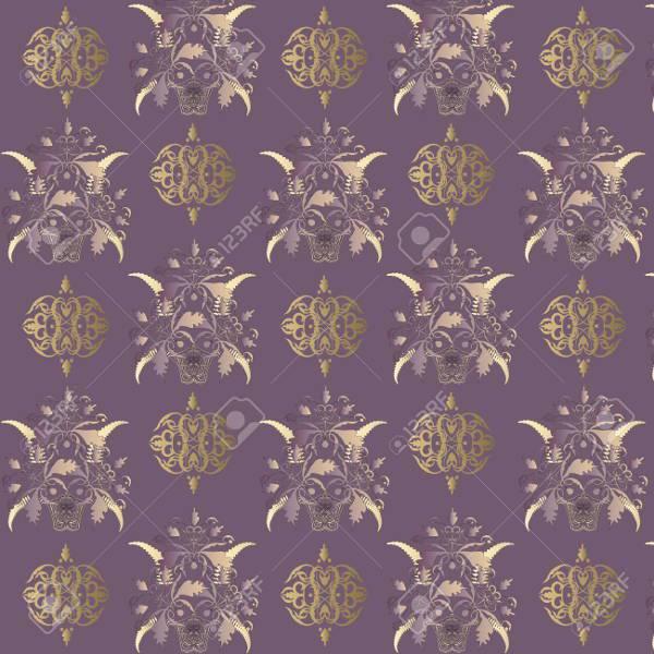 seamless classic vintage decorative pattern