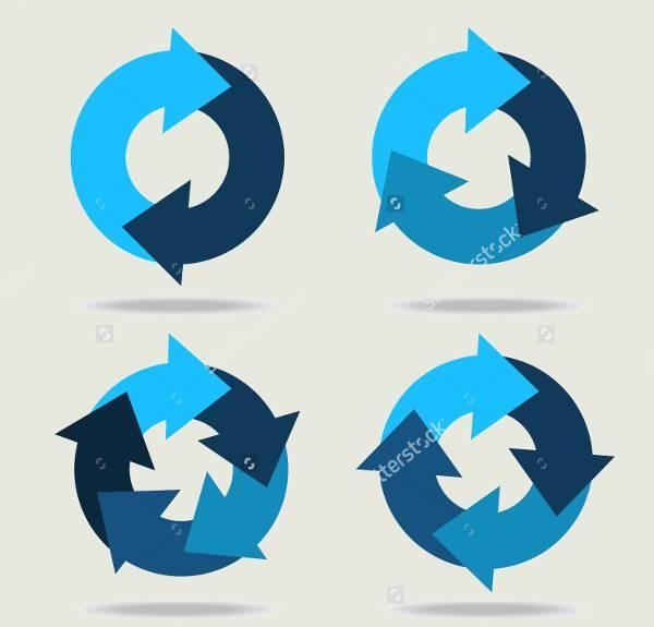 Blue Circle Arrow Icons
