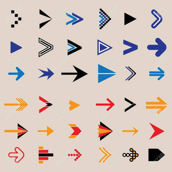 flat abstract arrow icons
