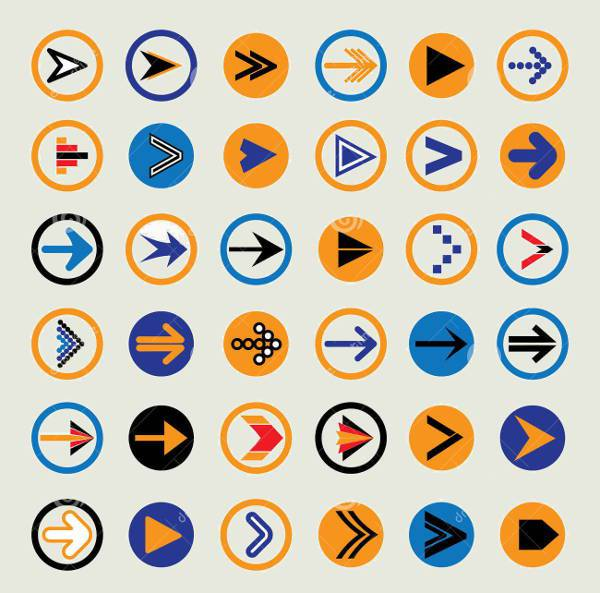 Abstract Arrow Circle Icons
