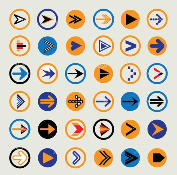 abstract arrow circle icons