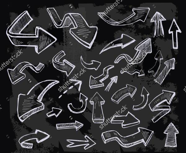 Vector Handdrawn Arrow Icons