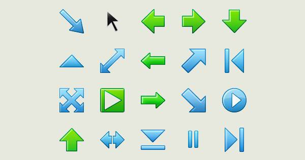 Small Colorful Arrow Icons