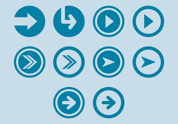 small round arrow icons
