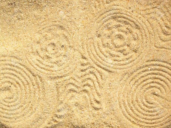 abstract sand swirl texture