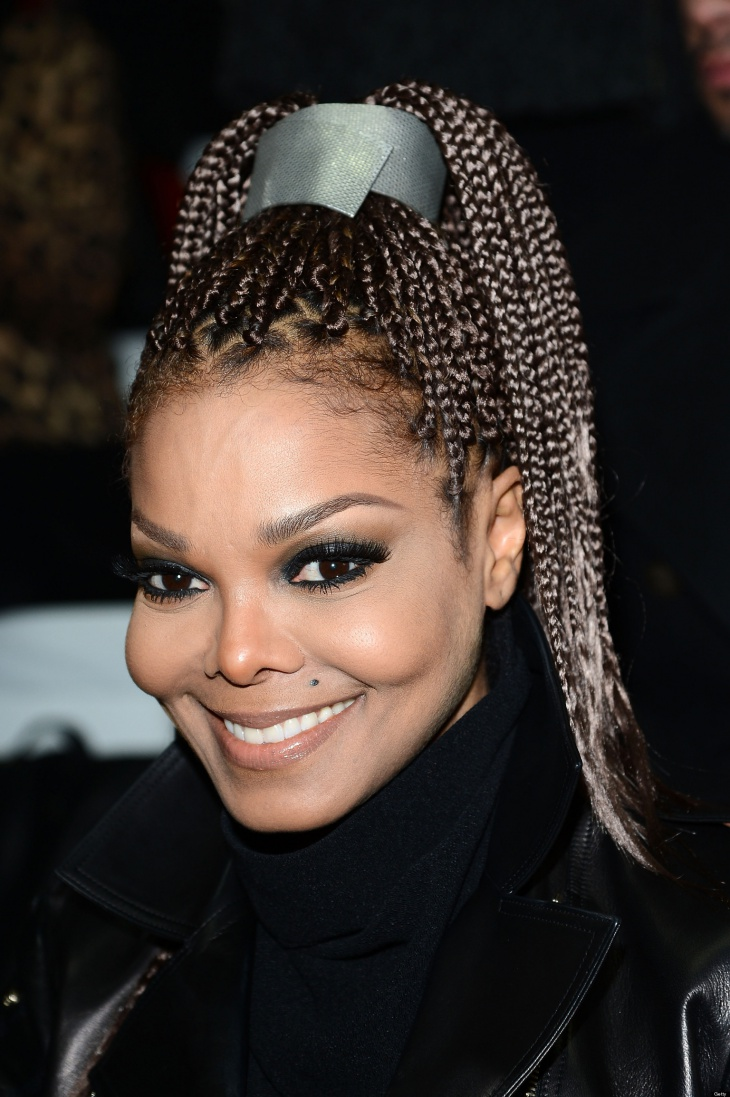 Janet Jackson Long Box Braid Hairstyle