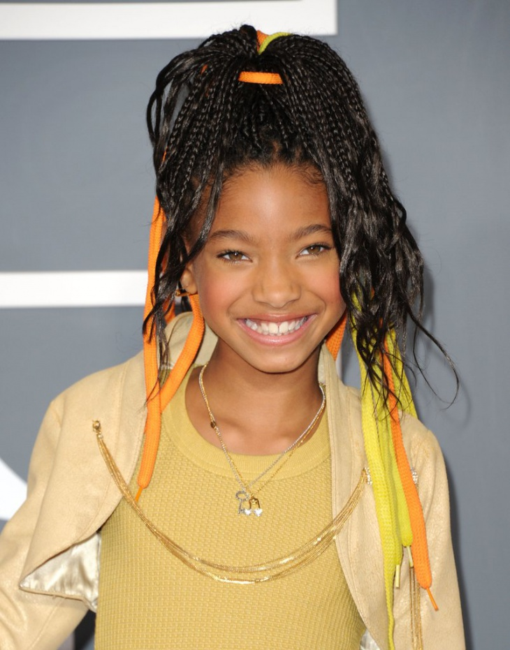 Willow Smith Cornrow Braided hairstyle
