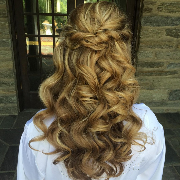 Half Up Braided Wedding Hairstyle