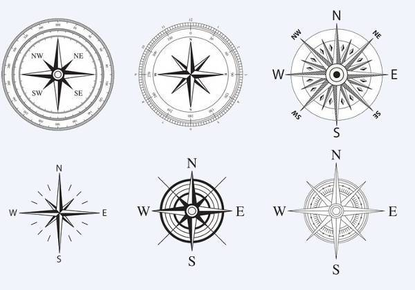 Nautical Compass Rose Vector