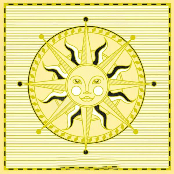 Sun Compass Rose Vector