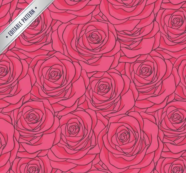 Free Pink Rose Pattern