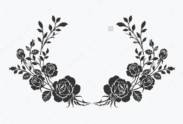 Rose Border Ornamental Vector