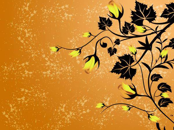 Yellow Rose Vine Vector