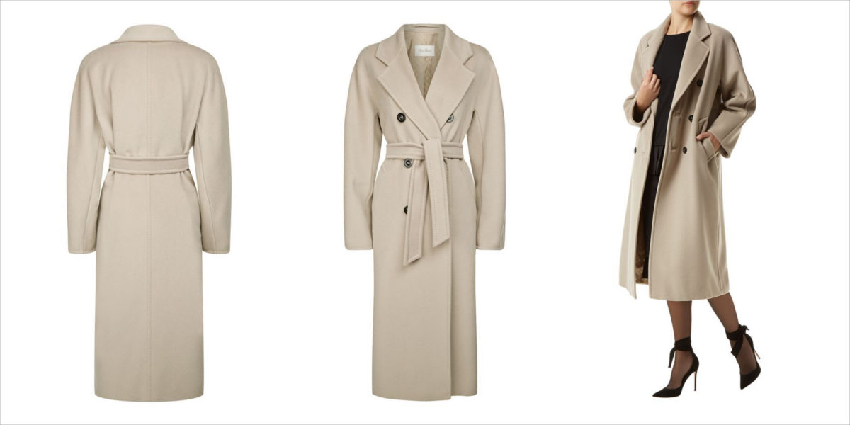 max mara madame wool cashmere coat