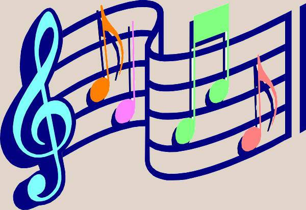 color music note clipart