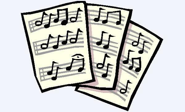 violin sheet music clipart