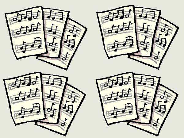 simple sheet music clipart