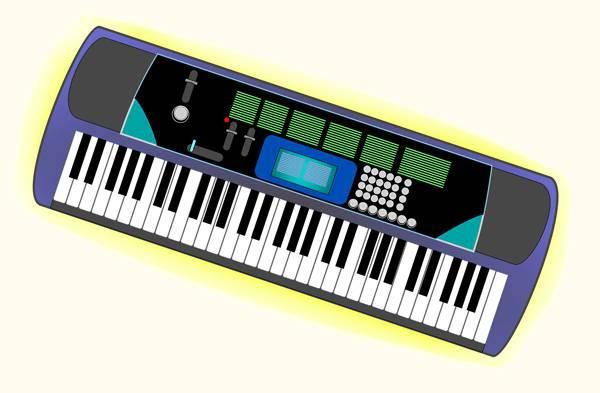 electronic music keyboard clipart