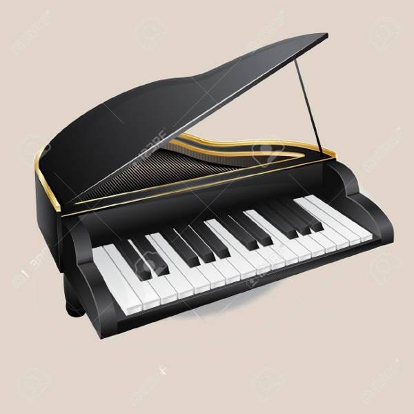 piano music keyboard clipart