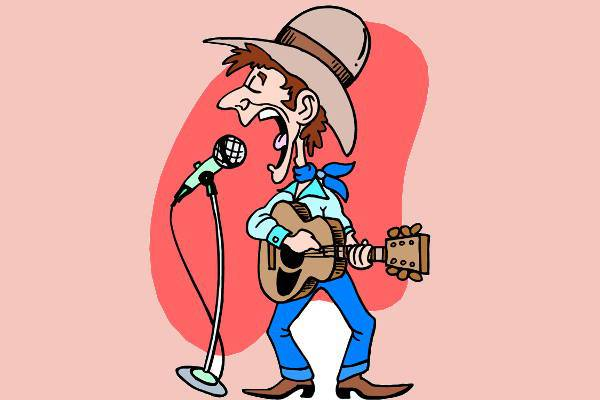 funny country music clipart