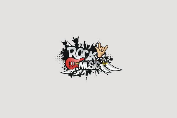 old rock music clipart