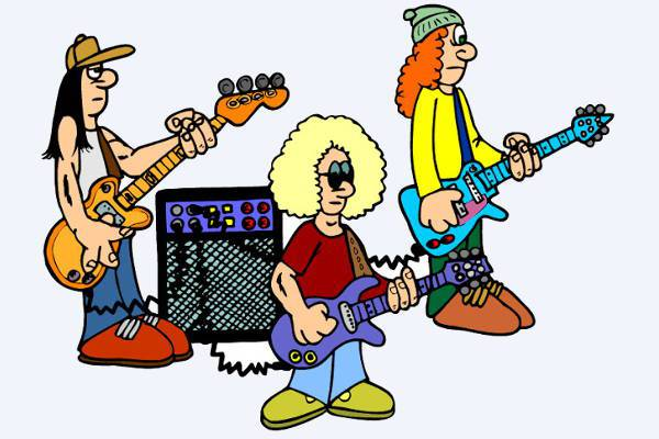 music rock band clipart