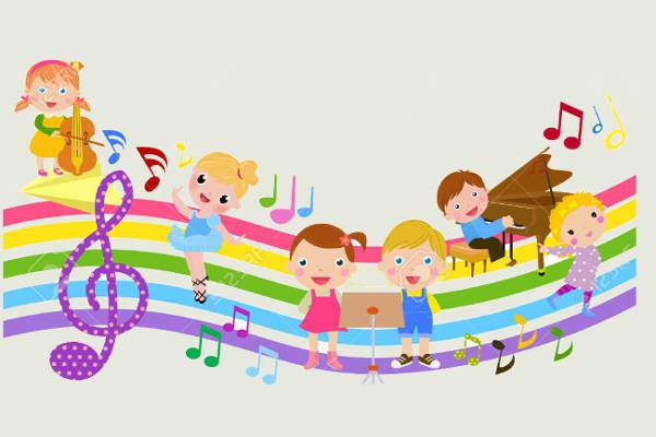 free colorful music clipart