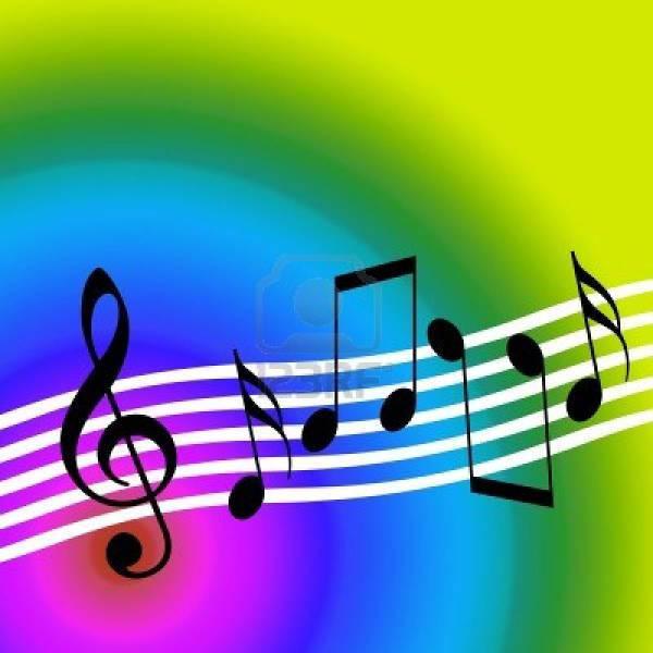 colorful music desktop clipart