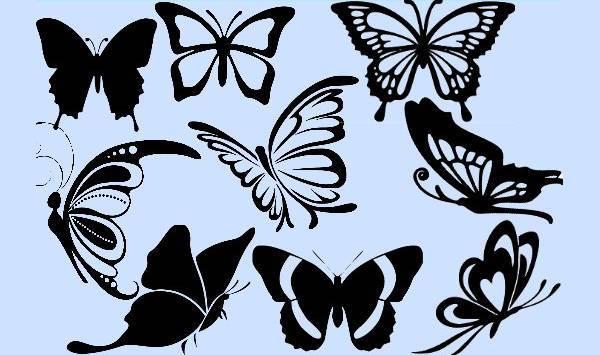 monarch flying butterfly silhouette
