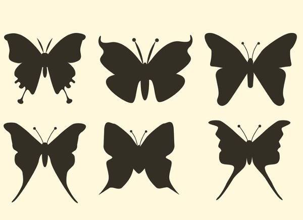 simple butterfly vector silhouette