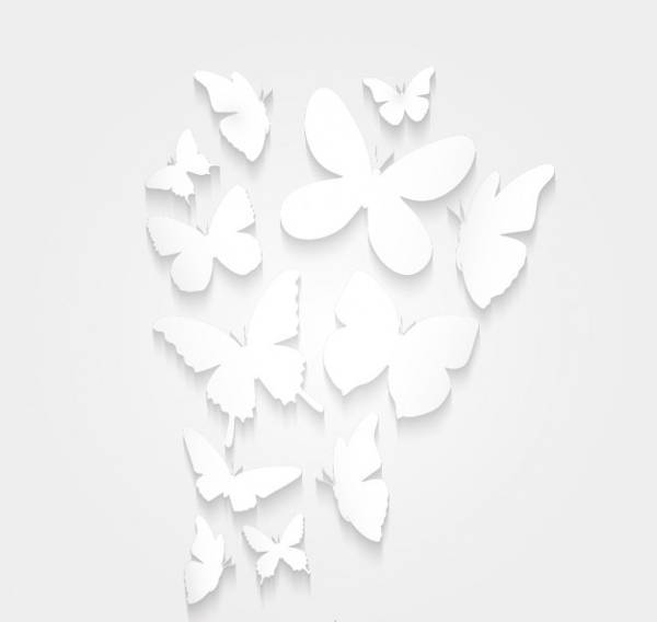 simple paper butterfly silhouette