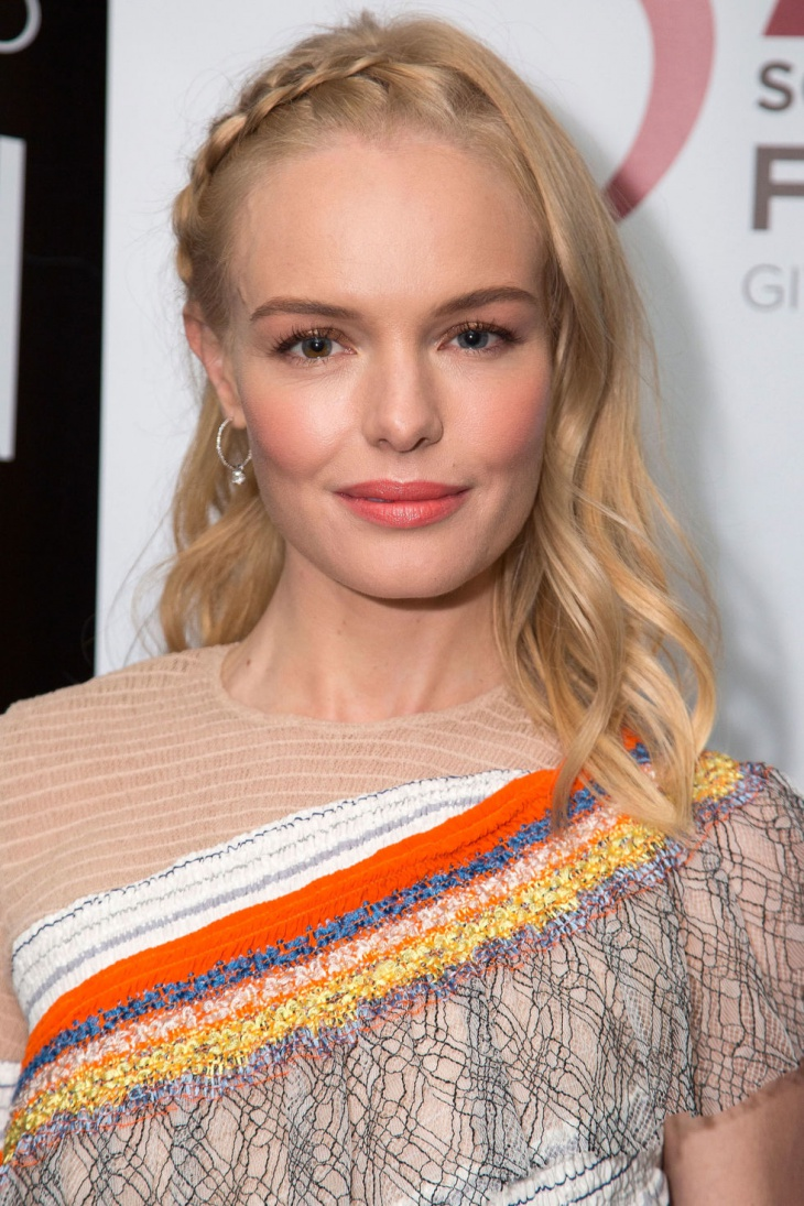 Kate Bosworth French Braided Bang Hairstyle