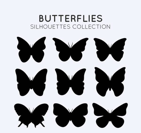 free small butterfly silhouette