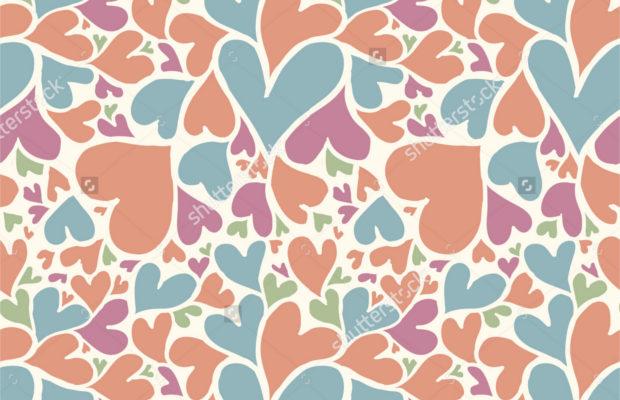 doodle heart pattern