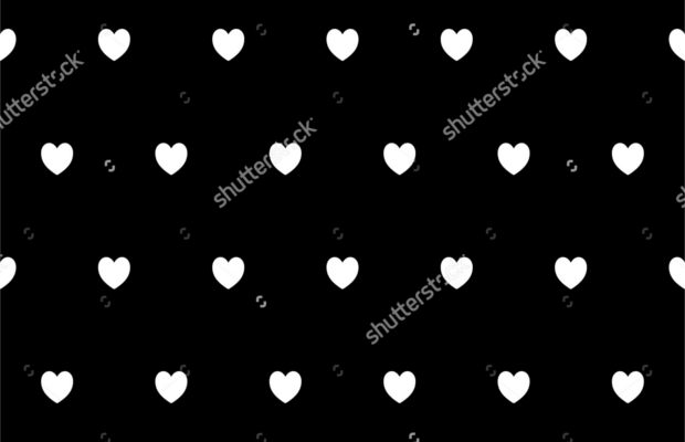black-and-white-heart-pattern