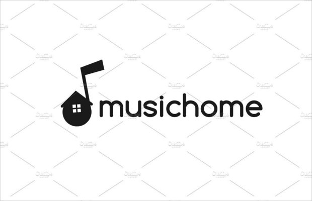 music-home-logo-design