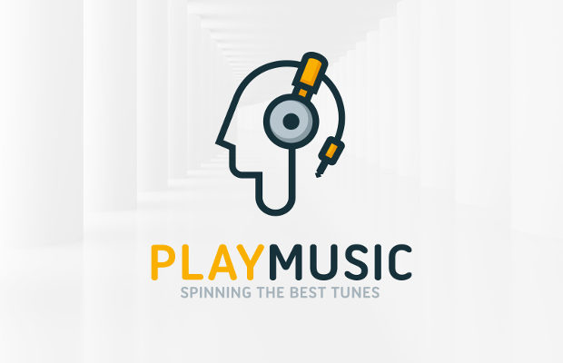 play-music-logo-template-design