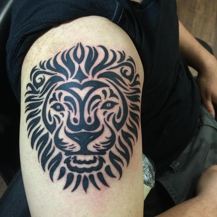tribal leo lion tattoo design