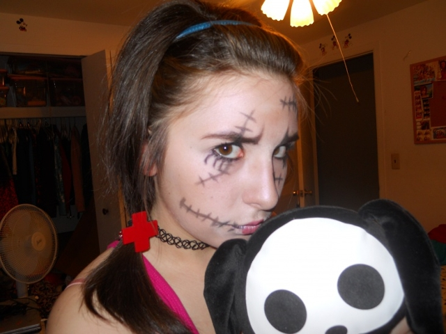 scary mickey mouse makeup1