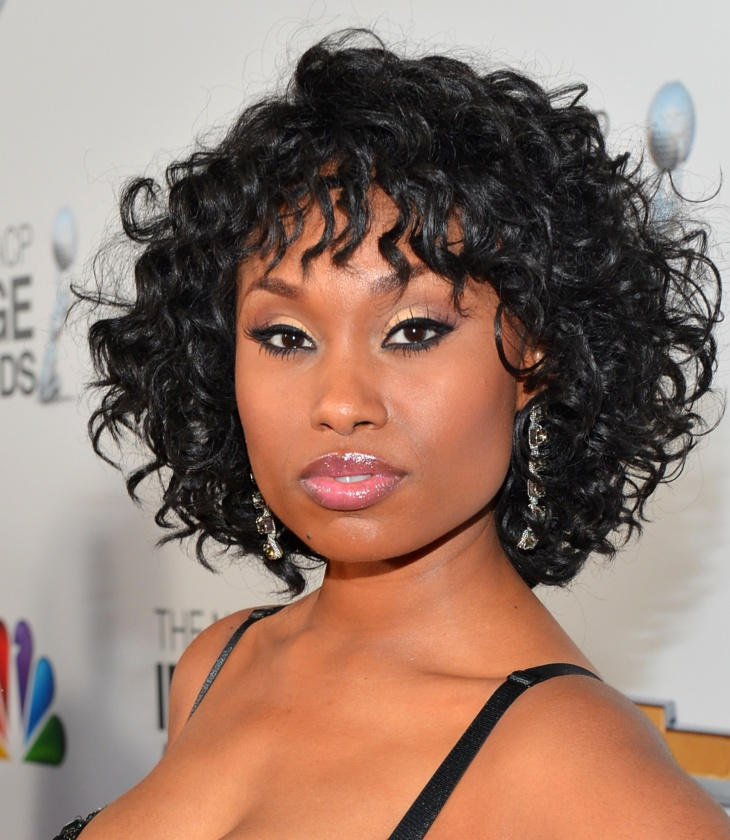 Angell Conwell Short Curly Wavy Weave Hairstyle
