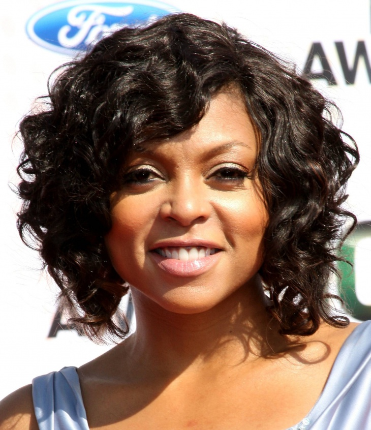 Taraji P Henson Black Short Curly Weave Hairstyle