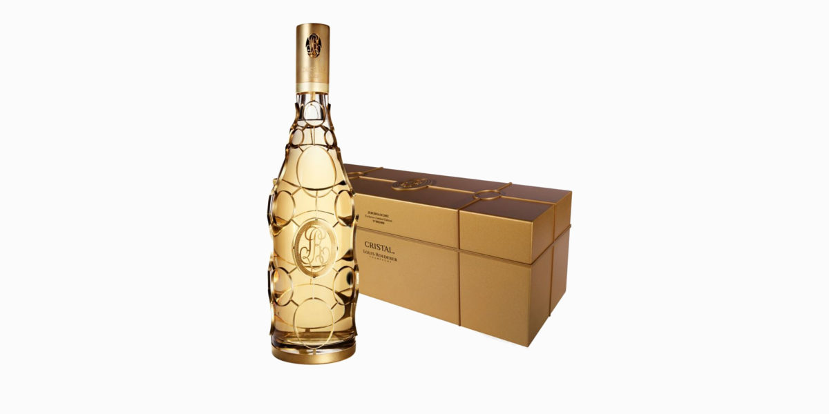 louis roederer cristal gold caged jeroboam limited edition