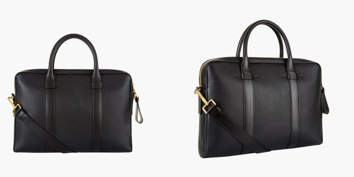 tom ford buckley grained leather briefcase
